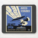 Office Propaganda: Downloads (blue) Mousemat