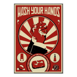 Office Propaganda: Wash your hands Poster