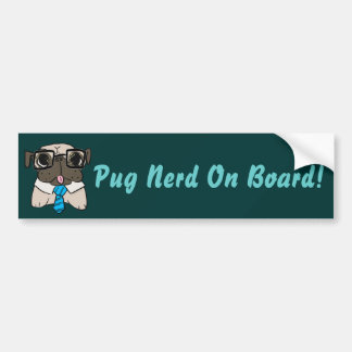 Office Pug Bumper Sticker