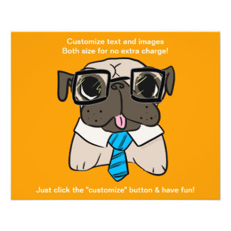Office Pug Personalized Flyer
