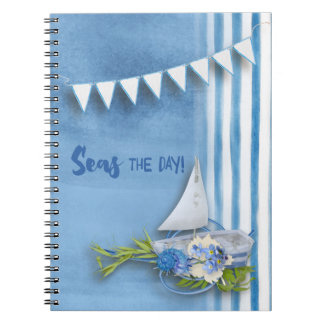 Office - Seas the Day Spiral Notebook