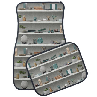 Office Shelves Wellness Teal Car Mat