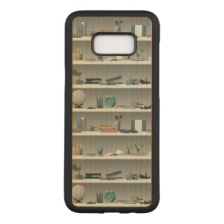 Office Shelves Wellness Teal Carved Samsung Galaxy S8+ Case