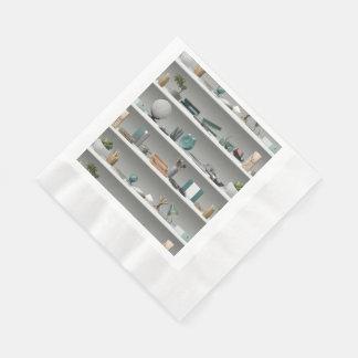 Office Shelves Wellness Teal Disposable Napkin