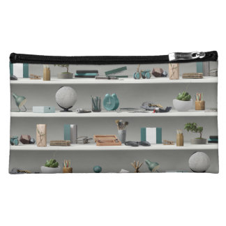 Office Shelves Wellness Teal Makeup Bag