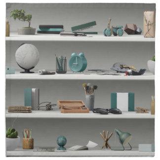 Office Shelves Wellness Teal Napkin
