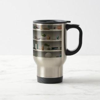 Office Shelves Wellness Teal Travel Mug