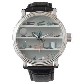 Office Shelves Wellness Teal Watch