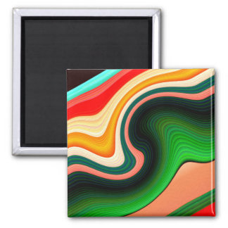 Office Space Square Magnet