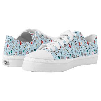 Office Stationery Pattern Low Tops
