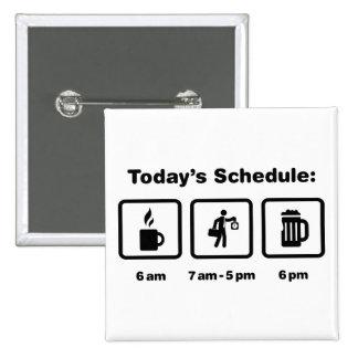 Office Worker Pinback Button
