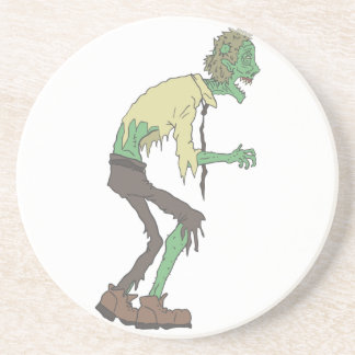 Office Worker Creepy Zombie With Rotting Flesh Out Coaster