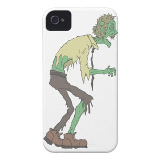 Office Worker Creepy Zombie With Rotting Flesh Out iPhone 4 Cover
