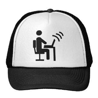 office worker mesh hat