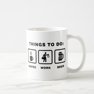 Office Worker Basic White Mug