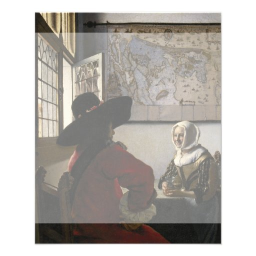 Officer and Laughing Girl by Johannes Vermeer Flyer Design