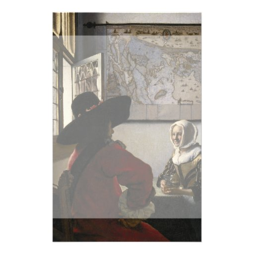 Officer and Laughing Girl by Johannes Vermeer Full Color Flyer