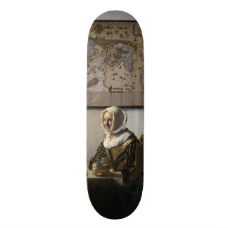Officer and Laughing Girl by Johannes Vermeer Skate Board