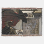 Officer and Laughing Girl by Johannes Vermeer Throw Blanket