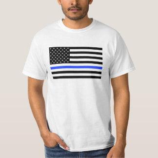 Officer Blue Line Flag - Police Officers Men's T-Shirt