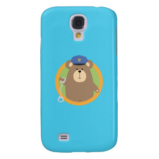 Officer Grizzly with Handcuffs in circle Q1Q Samsung Galaxy S4 Covers