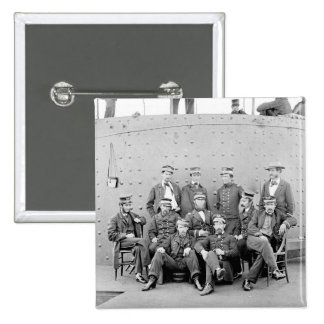 Officers on USS Monitor, 1862 Pinback Button