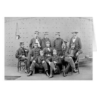Officers on USS Monitor, 1862 Card