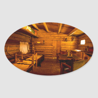 Officers Quarters Fort Clatsop - Lewis And Clark Oval Sticker