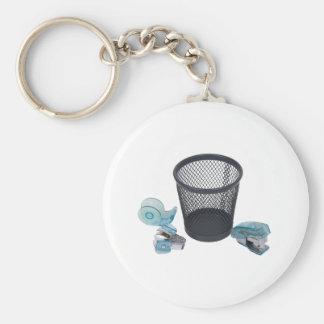 OfficeTools111409 Basic Round Button Key Ring
