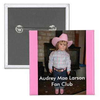 Official Audrey Mae Larson Fan Club Pin