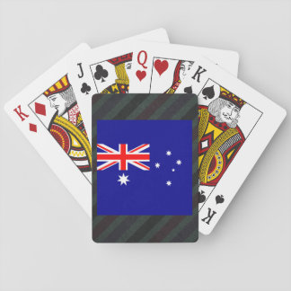 Official Australia Flag on stripes Playing Cards
