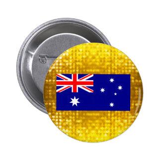 Official Australian Flag 6 Cm Round Badge