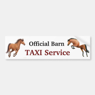 Official Barn Taxi Service Bumper Sticker
