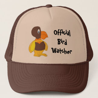 Official Bird Watcher- Cartoon Bird Trucker Hat