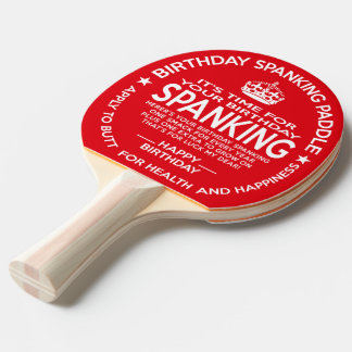 Official Birthday Spanking Paddle