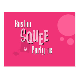 Official Boston Squee Party Postcard