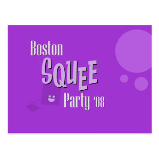 Official Boston Squee Party PURPLE Postcard