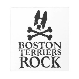 Official Boston Terriers Rock Merch Notepad