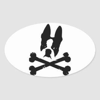 Official Boston Terriers Rock Merch Oval Sticker