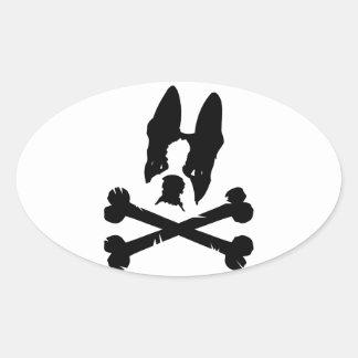 Official Boston Terriers Rock Merch Oval Sticker