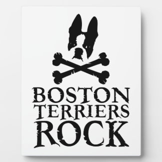 Official Boston Terriers Rock Merch Photo Plaques