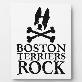 Official Boston Terriers Rock Merch Plaque