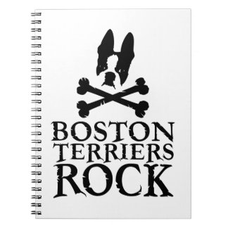 Official Boston Terriers Rock Merch Spiral Notebook
