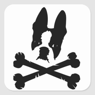 Official Boston Terriers Rock Merch Square Sticker
