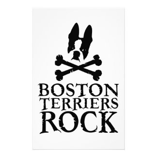 Official Boston Terriers Rock Merch Stationery Paper