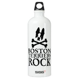 Official Boston Terriers Rock Merch Water Bottle