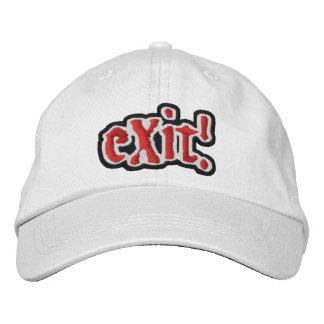 Official (c) eXit! Cap in WHITE! Baseball Cap