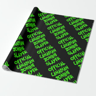 Official Canadian Zombie Slayer Wrapping Paper