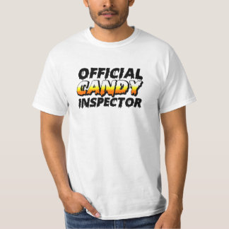 Official Candy Corn Inspector Funny Halloween Mom T-Shirt