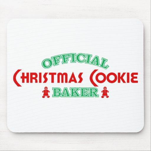 Official Christmas Cookie Baker Mouse Pads